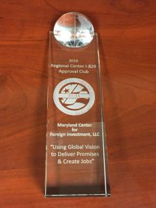 2016 IIUSA Regional Center I-829 Approval Club Award